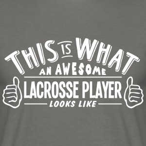awesome lacrosse player looks like pro d - Men's T-Shirt