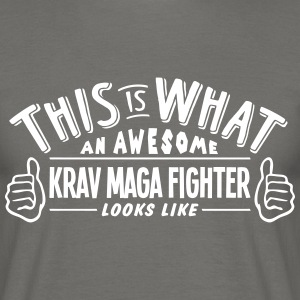 awesome krav maga fighter looks like pro - Men's T-Shirt