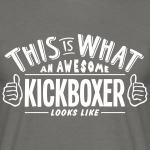 awesome kickboxer looks like pro design - Men's T-Shirt