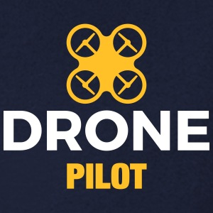 T-shirt: Making Aerial Footage (men) | Navy - Mannen T-shirt met V-hals