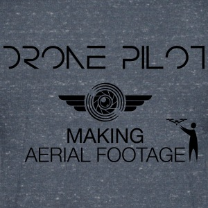 T-shirt: Making Aerial Footage (men) | Grey - Mannen T-shirt met V-hals