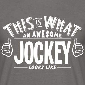 awesome jockey looks like pro design - Men's T-Shirt
