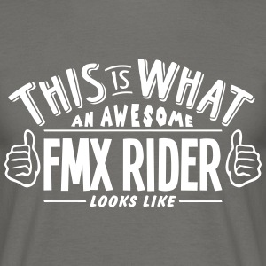 awesome fmx rider looks like pro design - Men's T-Shirt