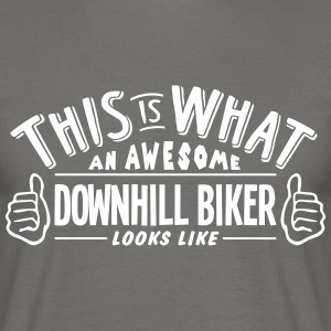 awesome downhill biker looks like pro de - Men's T-Shirt