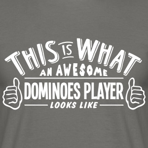 awesome dominoes player looks like pro d - Men's T-Shirt