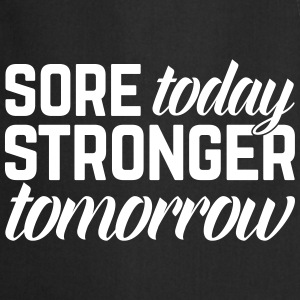 Stronger Tomorrow Gym Quote Kookschorten - Keukenschort