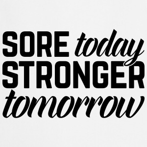 Stronger Tomorrow Gym Quote  Aprons - Cooking Apron