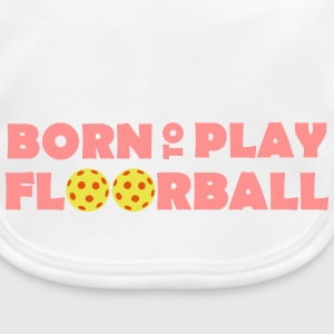 Born to play Floorball Babyhaklapp - Baby Bio-Lätzchen