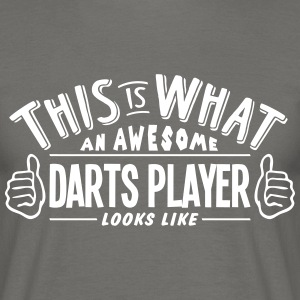 awesome darts player looks like pro desi - Men's T-Shirt