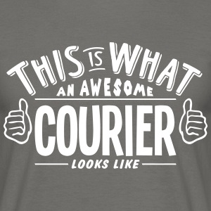 awesome courier looks like pro design - Men's T-Shirt