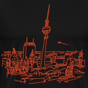 Panorama of Berlin T-Shirts - Men's Premium T-Shirt