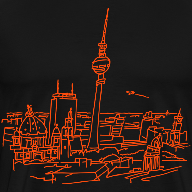 Berlin Panorama (neon-orange)