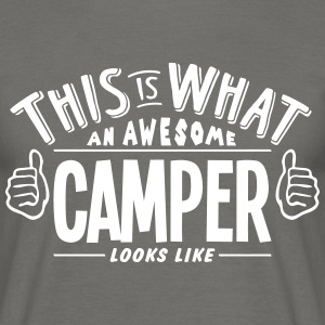 awesome camper looks like pro design - Men's T-Shirt