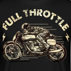 SSD Full Throttle retro racer - RAHMENLOS Biker Design classic color T-Shirts - Männer T-Shirt
