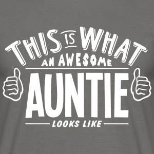 awesome auntie looks like pro design - Men's T-Shirt