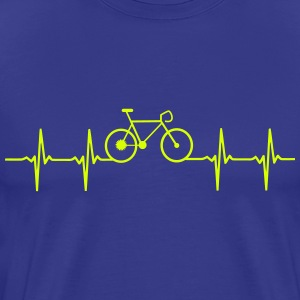 Bicycle Heartbeat design for bicycle racing T-Shirts - Men's Premium T-Shirt
