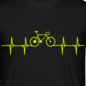 Bicycle Heartbeat design for bicycle racing T-Shirts - Men's T-Shirt