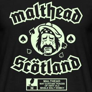 Malthead, new version, glow in the dark - Männer T-Shirt