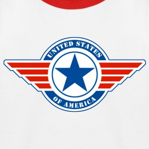 usa united states 09 Tee shirts - T-shirt baseball Enfant