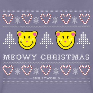 SmileyWorld Meowy Christmas - Frauen Premium T-Shirt