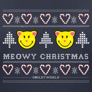 SmileyWorld Noël Chat Meowy Christmas - T-shirt col V Femme
