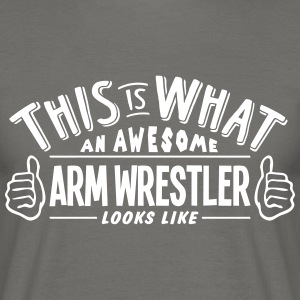 awesome arm wrestler looks like pro desi - Men's T-Shirt
