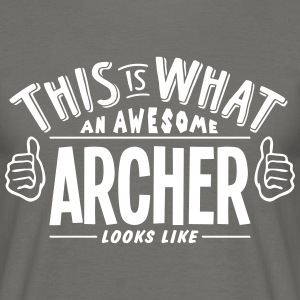 awesome archer looks like pro design - Men's T-Shirt