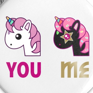 Einhorn Button - You Me - Buttons klein 25 mm