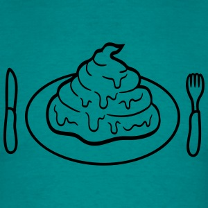 Eat delicious food hunger plate fork knife cutlery T-Shirts - Men's T-Shirt