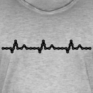 Bicycle Heartbeat Chain T-Shirts - Men's Vintage T-Shirt