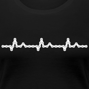 Bicycle Heartbeat Chain T-Shirts - Frauen Premium T-Shirt