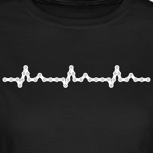Bicycle Heartbeat Chain Camisetas - Camiseta mujer