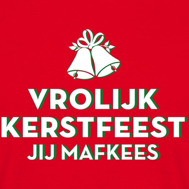 Vrolijk Kerstfeest Mafkees mannen t-shirt