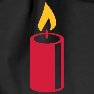 A burning candle Bags & Backpacks - Drawstring Bag