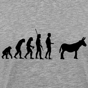 evolution røv T-shirts - Herre premium T-shirt