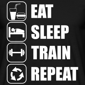 Eat,sleep,train,repeat Gym T-shirt - Herre-T-shirt