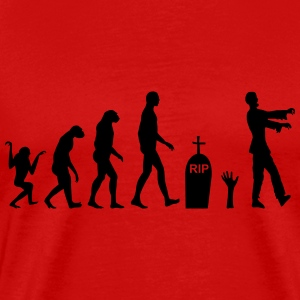 Zombie evolution  - Herre premium T-shirt