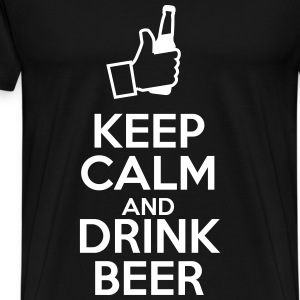 Keep calm ad drink beer - Männer Premium T-Shirt