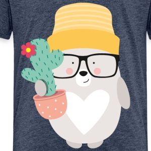 BEAR WITH CACTUS - Kinder Premium T-Shirt