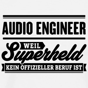 Superheld Audio Engineer - Männer Premium T-Shirt