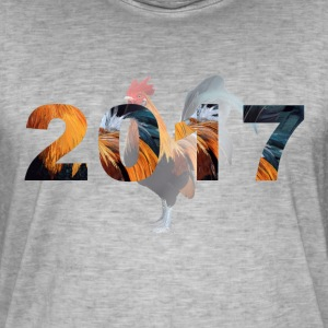 2017 Year of the fire cock T-skjorter - Vintage-T-skjorte for menn
