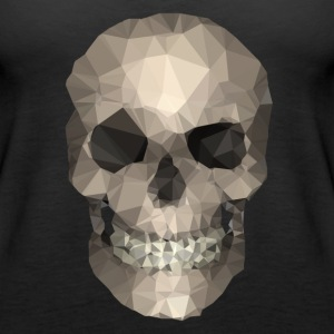 Polygons skull goldy Tops - Women's Premium Tank Top