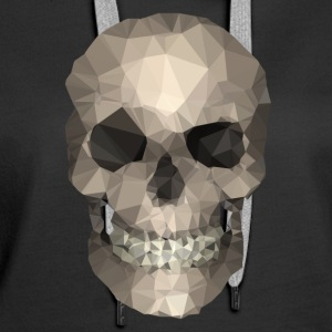 Polygons skull goldy Hoodies & Sweatshirts - Women's Premium Hoodie