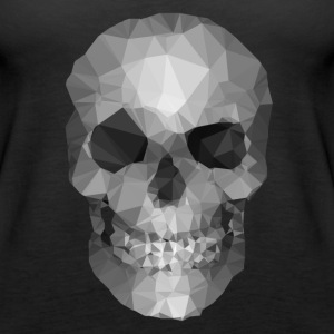 Polygons skull Tops - Women's Premium Tank Top