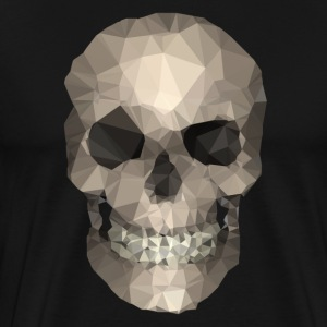 Polygons skull goldy T-shirts - Herre premium T-shirt