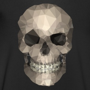 Polygons skull goldy T-Shirts - Men's V-Neck T-Shirt
