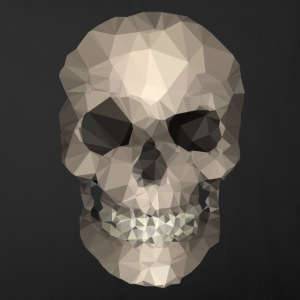 Polygons skull goldy Overig - Sierkussenhoes, 44 x 44 cm