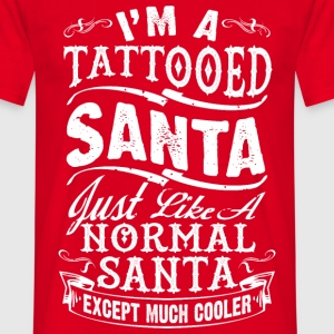 TATTOOED SANTA MEN T-SHIRT - Men's T-Shirt