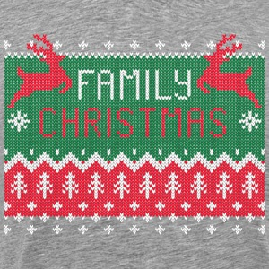 Family Christmas - Ugly Sweater T-shirts - Herre premium T-shirt