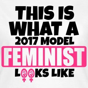 THIS IS WHAT A 2017 MODEL FEMINIST LOOKS LIKE T-Shirts - Women's T-Shirt